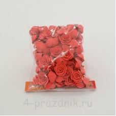Цветы латексные размер №1, цвета коралл latex035