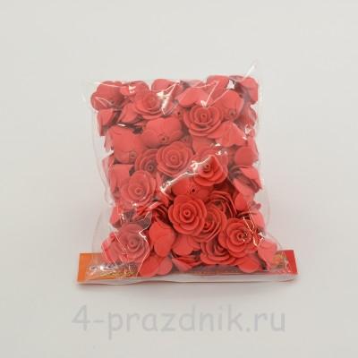 Цветы латексные размер №1, цвета коралл latex035 оптом