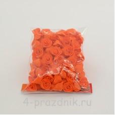 Цветы латексные размер №1, оранжевые latex036