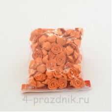 Цветы латексные размер №1, светло-оранжевые latex037