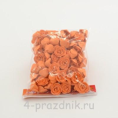Цветы латексные размер №1, светло-оранжевые latex037 оптом