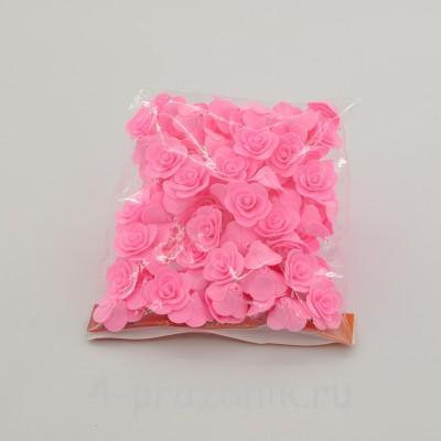 Цветы латексные размер №1, ярко-розовые latex039 оптом