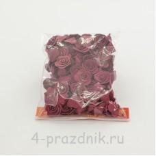 Цветы латексные размер №1, бордовые latex041
