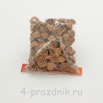 Цветы латексные размер №1, цвета: светлый шоколад latex042 оптом