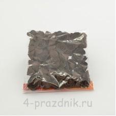 Цветы латексные размер №1, цвета: темный шоколад  latex043