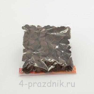 Цветы латексные размер №1, цвета: темный шоколад  latex043 оптом