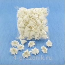 Латексные цветы размер №2, белые latex050