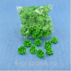 Латексные цветы размер №2, зеленые latex053
