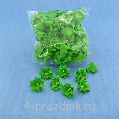 Латексные цветы размер №2, зеленые latex053 оптом