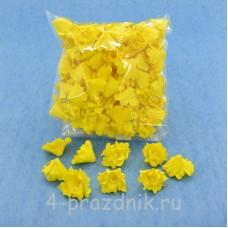 Латексные цветы размер №2, желтого цвета latex055