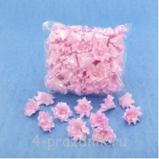 Латексные цветы размер №2, розовые latex056
