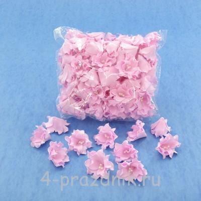 Латексные цветы размер №2, розовые latex056 оптом