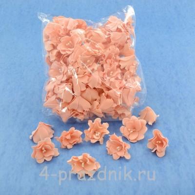 Латексные цветы размер №2, цвета светлый персик latex057 оптом
