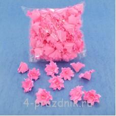 Латексные цветы размер №2, ярко-розовые latex059