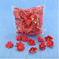 Латексные цветы размер №2, красные latex060