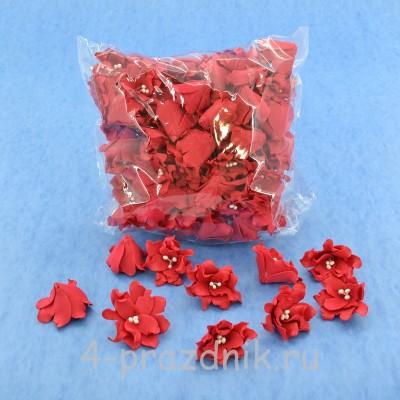Латексные цветы размер №2, красные latex060 оптом