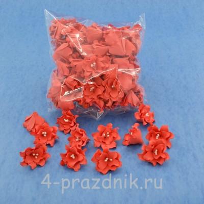 Латексные цветы размер №2, цвета корал latex061 оптом