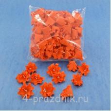 Латексные цветы размер №2, оранжевые latex062