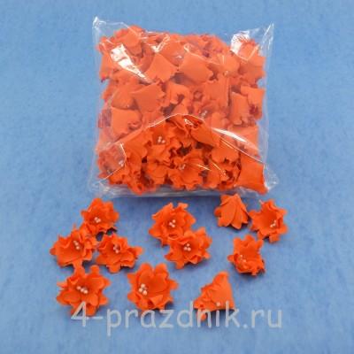 Латексные цветы размер №2, оранжевые latex062 оптом