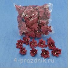 Латексные цветы размер №2, бордовые latex063