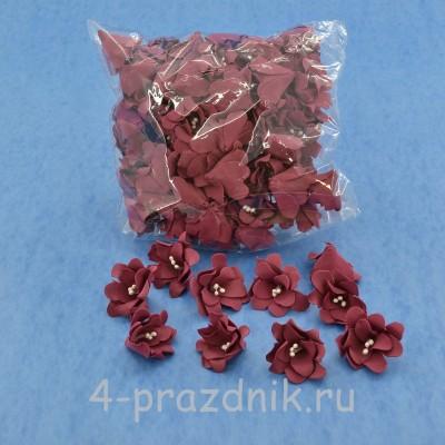 Латексные цветы размер №2, бордовые latex063 оптом