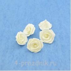 Латексные цветы размер №3, белые latex070