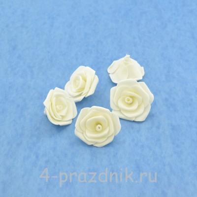 Латексные цветы размер №3, белые latex070 оптом