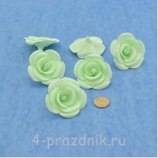 Латексные цветы размер №3, цвета мята latex074