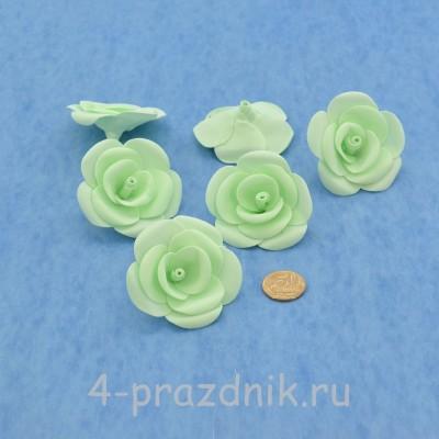 Латексные цветы размер №3, цвета мята latex074 оптом