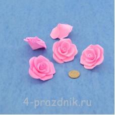 Латексные цветы размер №3, ярко-розовые latex075