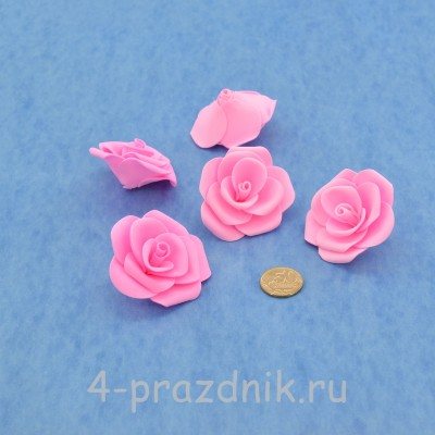 Латексные цветы размер №3, ярко-розовые latex075 оптом
