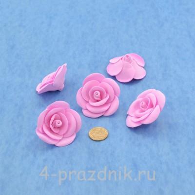 Латексные цветы размер №3, розовые latex076 оптом