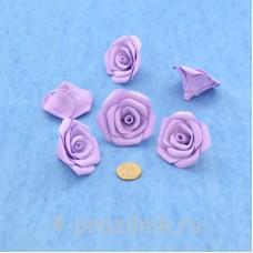 Латексные цветы размер №3, сиреневые latex078