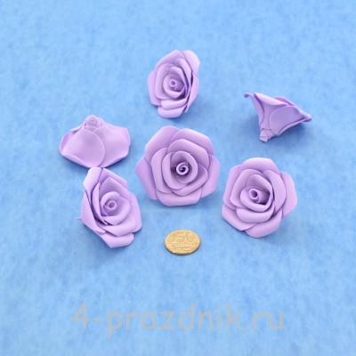 Латексные цветы размер №3, сиреневые latex078 оптом