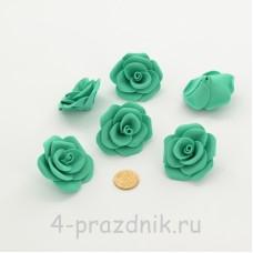 Латексные цветы размер №3, бирюзовые latex079