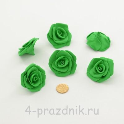 Латексные цветы размер №3, зеленые latex080 оптом