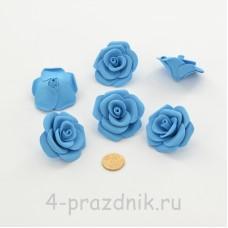 Латексные цветы размер №3, голубые latex081