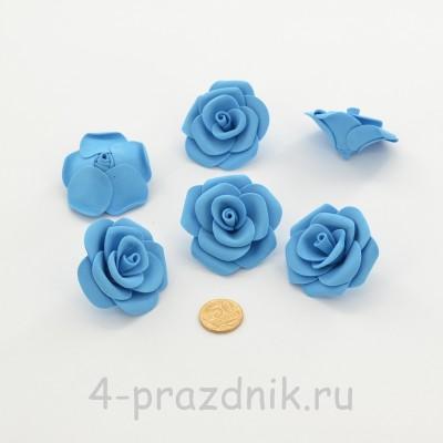 Латексные цветы размер №3, голубые latex081 оптом