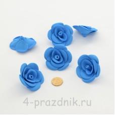 Латексные цветы размер №3, синие latex082