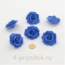 Латексные цветы размер №3, темно-синие latex083