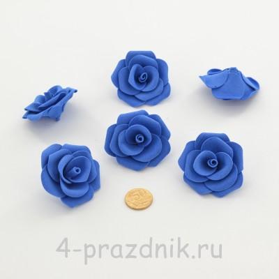 Латексные цветы размер №3, темно-синие latex083 оптом