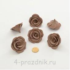 Латексные цветы размер №3, цвета светлый шоколад latex084