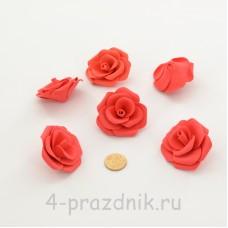 Латексные цветы размер №3, цвета коралл latex085