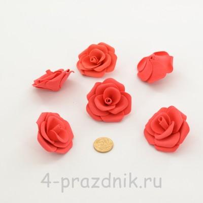 Латексные цветы размер №3, цвета коралл latex085 оптом