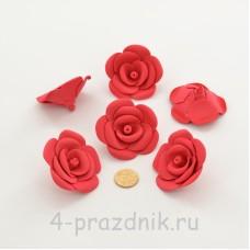 Латексные цветы размер №3, красные latex086