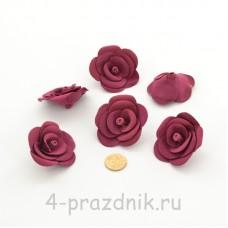 Латексные цветы размер №3, бордового цвета latex087