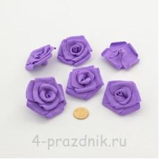 Латексные цветы размер №3, фиолетовые latex089