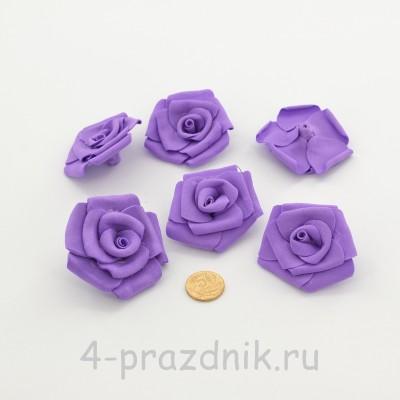 Латексные цветы размер №3, фиолетовые latex089 оптом