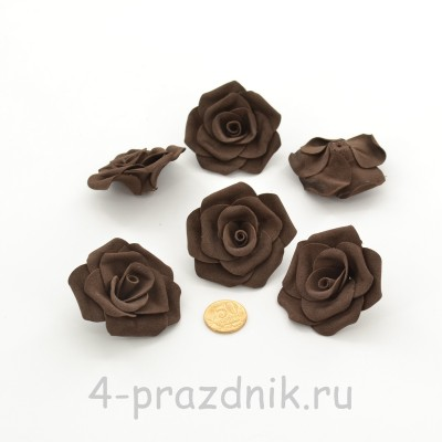 Латексные цветы размер №3, цвета темный шоколад latex090 оптом