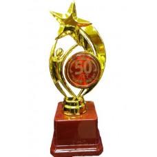 "Фигура ""Человечек со звездой"" на основе из пластика 50 лет medali-26327306"